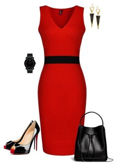 """""""Untitled #550"""" by angela-vitello on Polyvore featuring Christian Louboutin, 3.1 Phillip Lim, Lana and Movado"""