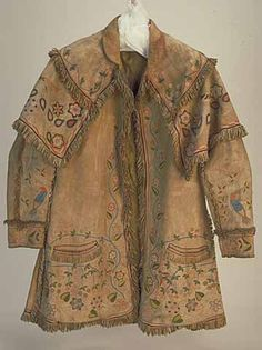 How to Make Deerskin Coats | Cherokee embroidered deerskin coat