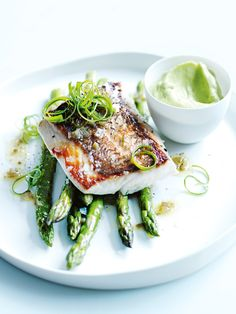 Snapper With Avocado Puree And Jalapeno Dressing | Donna Hay
