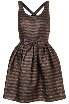 Rainbow Lurex Cross Back Dress by Dress Up Topshop** - StyleSays
