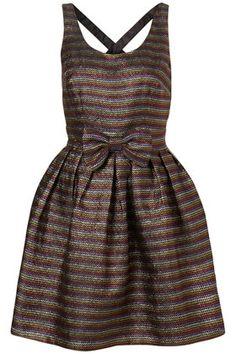 Rainbow Lurex Cross Back Dress by Dress Up Topshop** - StyleSays