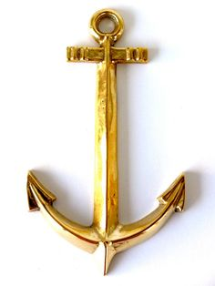 Solid Brass Anchor Wall Decor by PortugueseVintage on Etsy