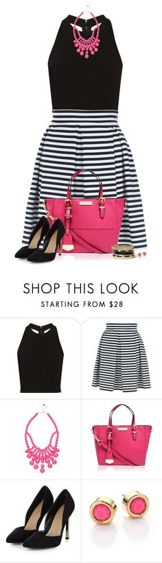 """""""Striped Skater Skirt"""" by amber-1991 ❤ liked on Polyvore featuring Alice + Olivia, Jane Norman, Ashley Stewart, Carvela Kurt Geiger, Marc by Marc Jacobs and GUESS"""