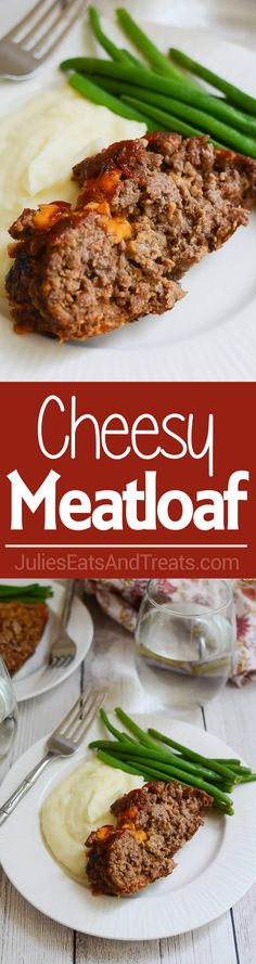 Cheesy Meatloaf ~ Delicious, Homemade Meatloaf just like Grandma Makes! Plus, it has CHEESE! The Ultimate Comfort Food Dinner! ~…