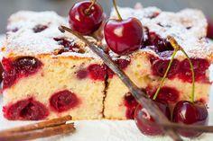 Napravite sami slatki kolač s osvježavajući kiselim višnjama Croatian Recipes, Homemade Cakes, Sweet Recipes, French Toast, Cherry, Food And Drink, Cheesecake, Cooking Recipes, Pudding