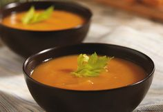 Roasting the sweet potatoes for this soup deepens their flavor, and when combined with broth, vegetables and maple syrup, you've got an amazing soup that gets better with every bite.