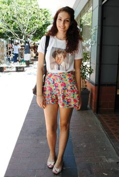 These beautiful floral shorts made us smile!
