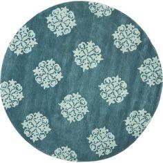 6' round rug blue - Google Search