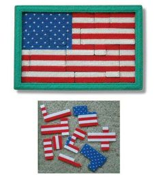 AMERICAN FLAG TODDLER PUZZLE by LISSA MITCHELL 1/2