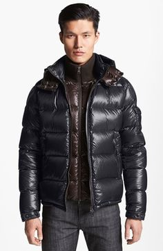 Moncler 'Zin' Shine Down Jacket available at #Nordstrom