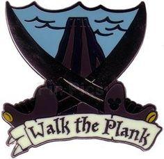 Pin 44505: DLR - Cast Lanyard Series 4 - POTC (Walk the Plank)