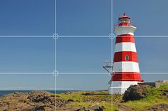This photo uses the rule of thirds by placing the light house on right third of the frame. M.Mummert