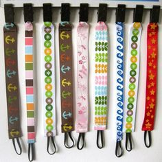 Baby Things To Sew Shower Gifts Pacifier Clips 43 Ideas Baby Sewing Projects, Sewing For Kids, Diy For Kids, Sewing Crafts, Pacifier Clip Tutorial, Pacifier Clips, Pacifier Holder, Baby Crafts, Baby Accessories