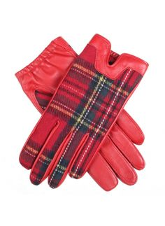 Balmoral Women's Tartan Back Hairsheep Leather Gloves with Cashmere Lining