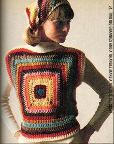 Cualquier cosa es del tejido de punto: Family Circle-julio de 1975, las Ideas (imagen pesada)