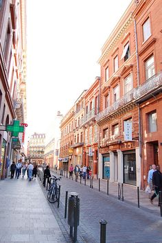 Toulouse, France. notice the brick- why it's known as the Pink City. Also one of the cleanest i have seen! cleaner than pdx even!