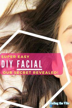 Super Easy DIY Facial At Home!  Get the recipe.  #DIY #Facial #AtHome