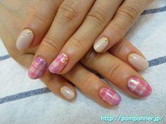 ピンク、紫、ホワイトでブランケットネイル #nail #nails