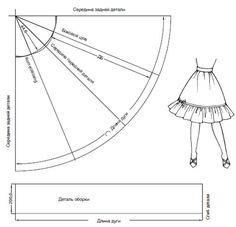 Beautiful pattern skirt sun. Выкройка юбки четверть-солнце.