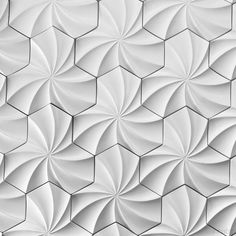 Dimensional Wall Tiles| Kaleidoscope Architectural Concrete Tile in White – Inhabit