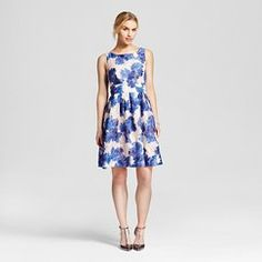 Women's Burn Out Blooms Fit and Flare Dress - ISANI for Target