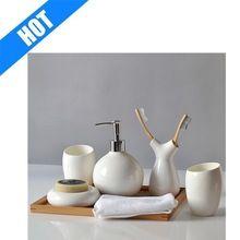 China de hueso de cerámica <strong> baño </ strong> set de moda de…
