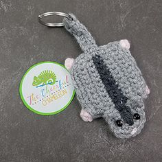 Sugar Glider Key Chain - Free Crochet Pattern by @CheeryChameleon | Featured at The Cheerful Chameleon - Sponsor Spotlight Round Up via @beckastreasures | #fallintochristmas2016 #crochetcontest #spotlight #crochet #roundup