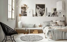 Scandinavian Bedroom Design Scandinavian style is one of the most popular styles of interior design. Although it will work in any room, especially well . Decoration Inspiration, Interior Inspiration, Bedroom Inspiration, Decor Ideas, Bedroom Inspo, Design Inspiration, Home Bedroom, Modern Bedroom, Budget Bedroom