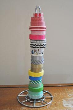 Washi tape storage by AntheaM, via Flickr