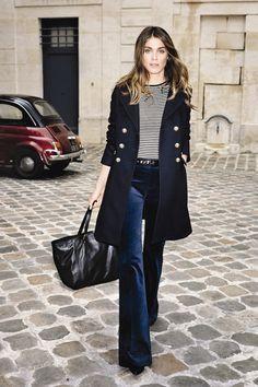 """Elisa Sednaoui para Gerard Darel  """"En los últimos años, la idea de la sencillez se ha convertido en algo muy importante para mí, tanto si estamos hablando sobre la vida, una película, o, por supuesto, la moda. Por eso adoro la elegancia de las mujeres parisinas que Gerard Darel encarna con tanta fuerza"""""""