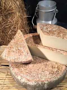 Saint Nectaire , washed rind cheese Sharp... France...