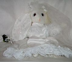 Bride Bunny with Lace and Satin Gown/Long Veil