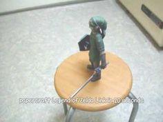 Papercraft Legend of Zelda Link in 20 seconds