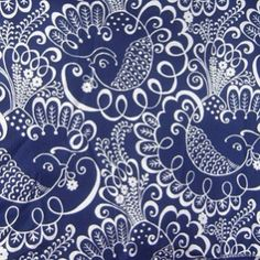 Vera Bradley Twirly Birds Navy pattern  Love this pattern.