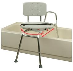 Beau Eagle Swivel Seat Sliding Bath Transfer Bench   Regular   37662 37662 Size:  Regular Features:  Transfer Bench With Molded Swivel Seat / Back.