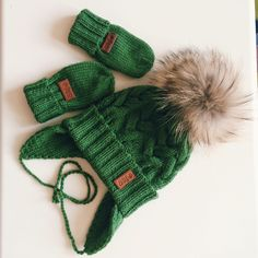 Купить Шапка зеленая с помпоном - шапка с помпоном, шапка для мальчика, шапка для девочки, шапка и снуд