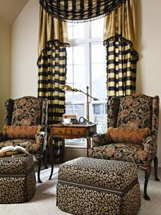This window treatment is very elegant and perfect for any traditional design!