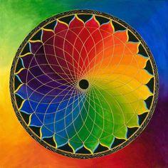 Rainbow Lotus Mandala