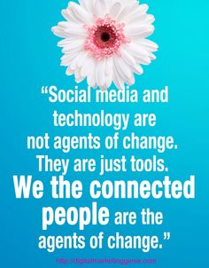 Social media & technology are not agents of change. People are agents of change. - Social media & technology are not agents of change. People are agents of change. Technology Quotes, Technology Hacks, Technology Design, Computer Technology, Technology Logo, Negativity Quotes, Tech Quotes, Great Quotes, Inspirational Quotes