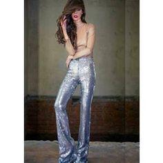 Amazing silver sequin pants! Pantaloni din paiete argintii Sequin Pants, Silver Sequin, Sequins, Amazing, Dresses, Fashion, Vestidos, Moda, Fashion Styles