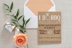 I DO BBQ Engagement Party Invitation Template  Kraft Wedding