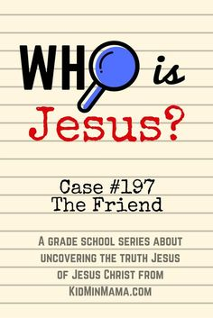 Who is Jesus: Rescuer. children's ministry lesson on Jesus Kids Sunday School Lessons, Kids Church Lessons, Sunday School Activities, Activities For Teens, Bible Lessons For Kids, Bible Activities, Bible For Kids, School Ideas, Sunday School Themes