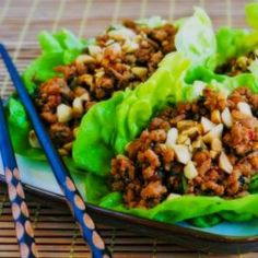 Cambodian recipes - Beef lettuce wraps