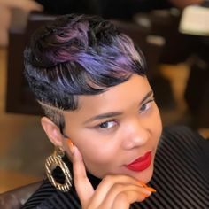 The Best Natural Hair styles Which Are Gorgeous. Dope Hairstyles, Short Black Hairstyles, Hairstyle Ideas, Short Sassy Hair, Short Hair Cuts, Natural Hair Cuts, Natural Hair Styles, Natural Life, Purple Rain