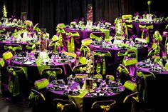 Purple and Green Wedding Decor