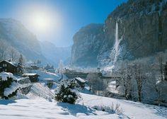Lauterbrunnen in Winter