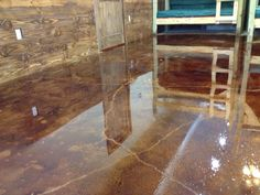 stained cement floors    DIY Concrete Stain Floors – Waters Edge Encampment