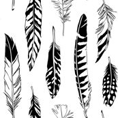 Feathers by Cherii on spoonflower