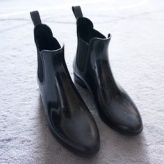 Chelsea Rain Boots Worn a handful of times. Still in good condition. Very stylish rain boot and versatile. Very comfortable as well. Look great paired with pants leggings or tights. J. Crew Shoes Winter & Rain Boots