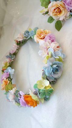 【ヘッドドレス】花冠orrange〜yellow